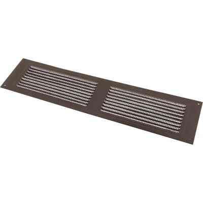 NorWesco 16 In. x 8 In. Brown Galvanized Soffit Ventilator