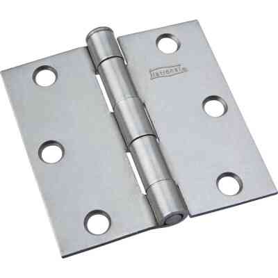 National 3 In. Square Plain Steel Broad Door Hinge