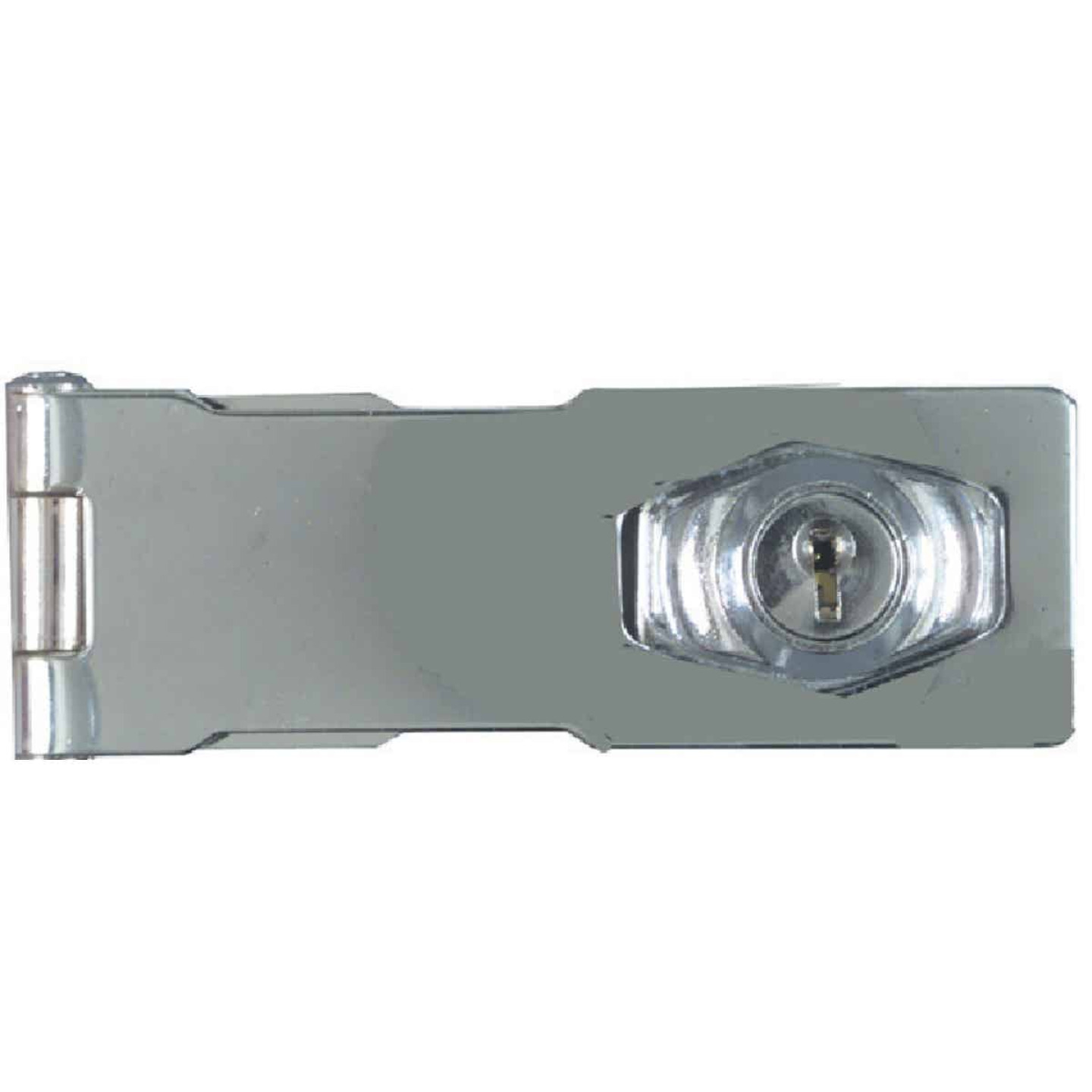 National 4-1/2 In. Keyed Different Hasp Lock Image 3