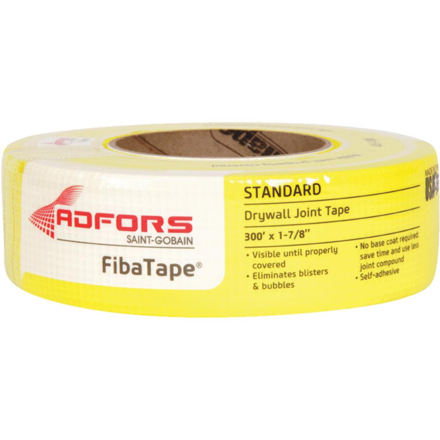 FibaTape 1-7/8 In. x 300 Ft. Yellow Self-Adhesive Joint Drywall Tape Image 1