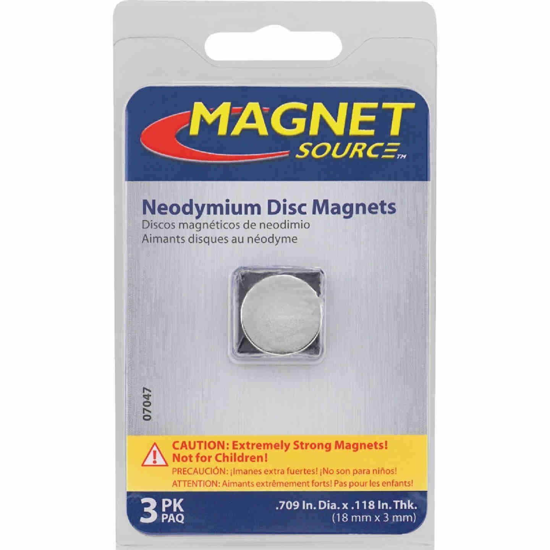 Master Magnetics .709 In. Neodymium Disc Magnet (3-Pack) Image 2