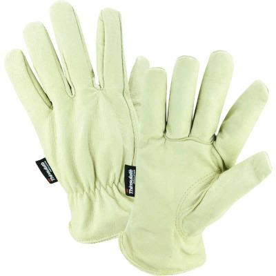 West Chester Men's XL Grain Pigkin Leather Driver Winter Work Glove