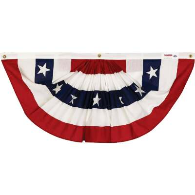 Valley Forge 3 Ft. W. x 6 Ft. L. Polycotton Fan Flag Bunting